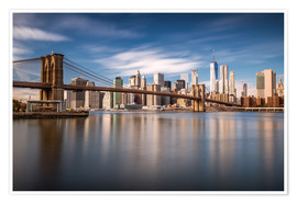 Premium poster New York City - Brooklyn Bridge and Skyline