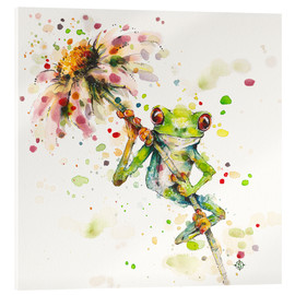 Acrylglas print  Hello there, bright eyes (Green tree frog) - Sillier Than Sally