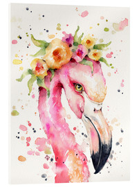 Acrylglas print  Little flamingo - Sillier Than Sally