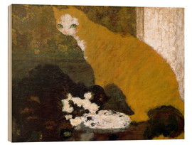 Hout print  The cats - Pierre Bonnard