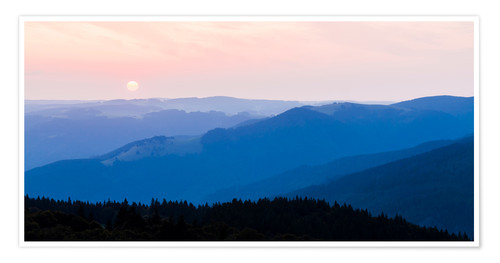Premium poster Sunrise at Schauinsland in the Black Forest