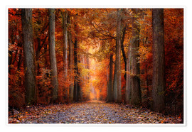 Premium poster Red Forest