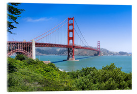 Acrylglas print  Golden Gate Bridge in San Francisco, California, USA - Jan Christopher Becke