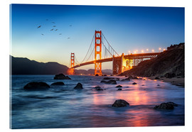 Acrylglas print  Golden Gate Bridge at sunset in San Francisco, USA - Jan Christopher Becke