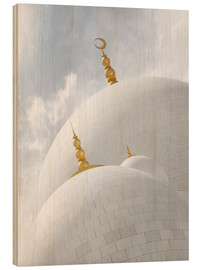 Hout print  white cupolas of sheikh zayed mosque