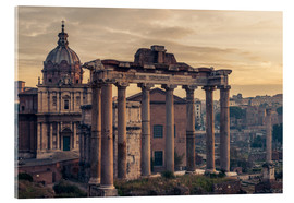 Acrylglas print  The Roman Forum at sunrise