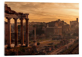 Acrylglas print  Rome : the Temple of Saturn