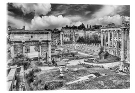 Acrylglas print  ruins of the Roman Forum in Rome
