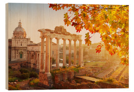 Hout print  Roman ruins in the sunlight