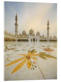 Acrylglas print  Courtyard of Sheikh Zayed Grand Mosque