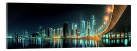Acrylglas print  Panoramic view - Dubai Business Bay