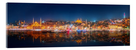 Acrylglas print  Istanbul and Bosporus at night