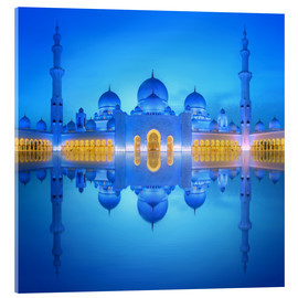 Acrylglas print  Sheikh Zayed Grand Mosque in blue