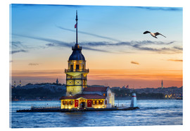 Acrylglas print  Maiden's Tower on the Bosphorus