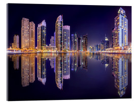 Acrylglas print  The beauty of the marina in Dubai