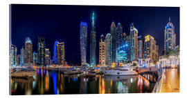 Acrylglas print  The fascination of Dubai Marina Bay