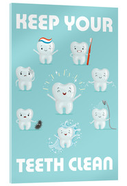 Acrylglas print  Keep your teeth clean - Kidz Collection
