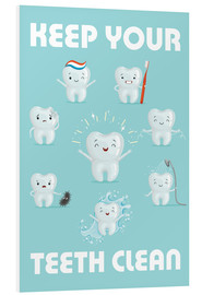 PVC print  Keep your teeth clean - Kidz Collection
