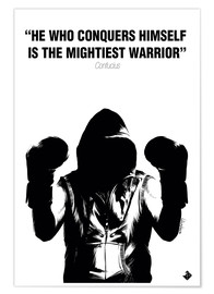 Premium poster WARRIOR Motivational Quotes