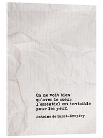 Acrylglas print  You only see well with your heart (French) - Typobox