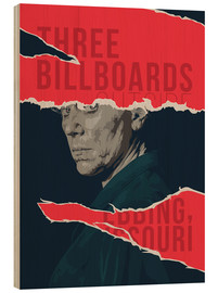 Hout print  Three billboards outside ebbing missouri - Fourteenlab
