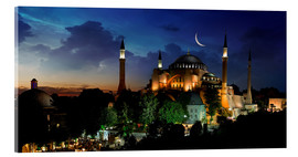 Acrylglas print  View of Hagia Sophia after sunset