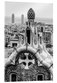 Acrylglas print  Impressive architecture and mosaic art at Park Guell