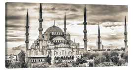 Canvas print  Blue mosque in sepia
