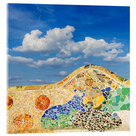Acrylglas print  Mosaic in the Park Güell
