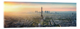 Acrylglas print  Paris skyline with Eiffel tower at sunset - Jan Christopher Becke