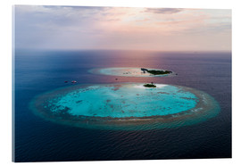 Acrylglas print  Islands at sunset in the Maldives - Matteo Colombo