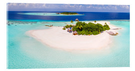 Acrylglas print  Aerial view of island in the Maldives - Matteo Colombo