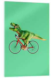Acrylglas print  T-Rex riding a bike - Jonas Loose