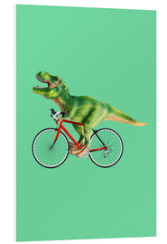 PVC print  T-Rex riding a bike - Jonas Loose