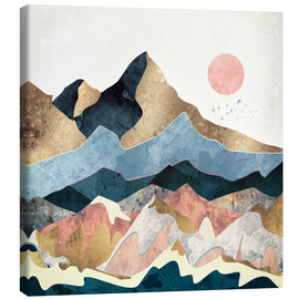 Canvas print  Golden Peaks - SpaceFrog Designs