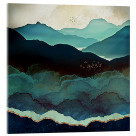 Acrylglas print  Indigo Mountains - SpaceFrog Designs