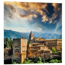PVC print  View of the famous Alhambra