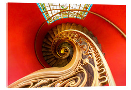 Acrylglas print  Spiral staircase in Brittany