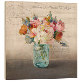Hout print  French Cottage Bouquet II - Danhui Nai