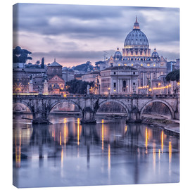 Canvas print  Rome in de schemering