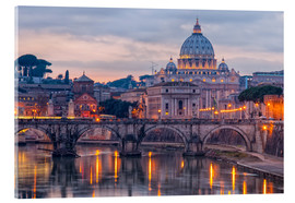 Acrylglas print  The Basilica of the Vatican of St. Peter