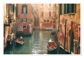 Premium poster Canal in Venice