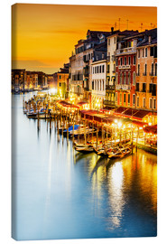 Canvas print  Grand Canal at dusk