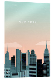 Acrylglas print  Illustration of New York - Katinka Reinke
