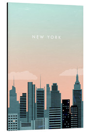 Aluminium print  Illustration of New York - Katinka Reinke