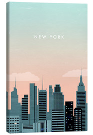 Canvas print  Illustratie van New York - Katinka Reinke