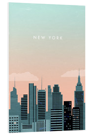 PVC print  Illustration of New York - Katinka Reinke