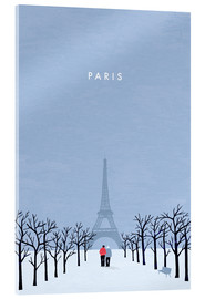 Acrylglas print  Illustration of Paris - Katinka Reinke
