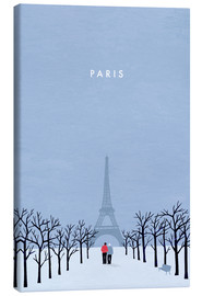 Canvas print  Illustration of Paris - Katinka Reinke