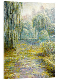 Acrylglas print  The garden in Giverny - Blanche Hoschede-Monet